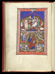 Descent of the Holy Spirit and Christ in Majesty, in a Psalter